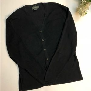 Banana Republic Black Button Up Cardigan